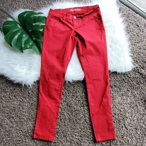 Old Navy The Rock Star Sz 6 Red Skinny Jeans